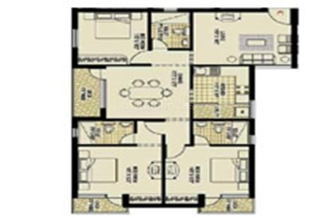 3 BHK Multistorey Apartment in Majestica at Medavakkam-Image