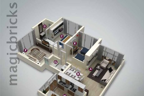3 BHK Multistorey Apartment in Ekta Tripolis at Goregaon West-Image