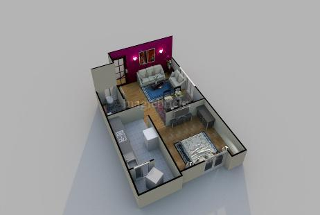 1 BHK Multistorey Apartment in Sarthak Galaxy at A B Road-Image