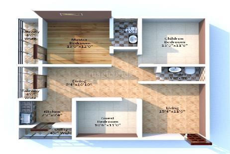 3 BHK Multistorey Apartment in SLV Orchid at Attur Layout, Yelahanka New Town-Image