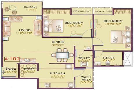 2 BHK Multistorey Apartment in Kalp Pavitra at Gotri-Image