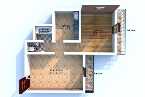 1 BHK Multistorey Apartment in Balaji Splendour at New Panvel-Image