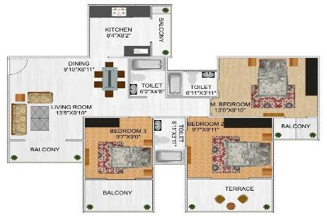 3 BHK Multistorey Apartment for Sale in Tricity Pristine at Kharghar-Image