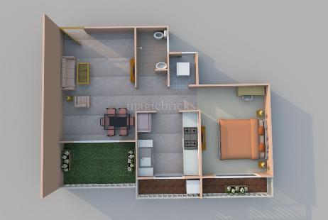 1 BHK Multistorey Apartment for Sale in Regency Sarvam at Titwala-Image