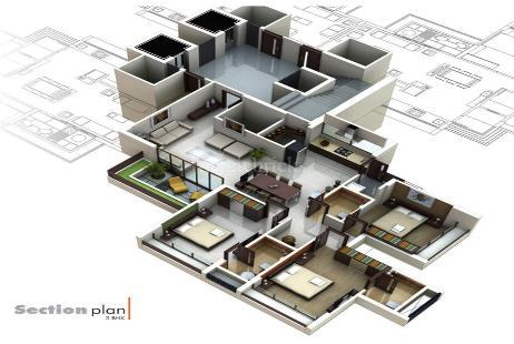 3 BHK Multistorey Apartment in Binori Solitaire at South Bopal, Bopal-Image