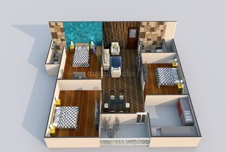 3 BHK Multistorey Apartment in Gulmohar Plaza at Mango-Image