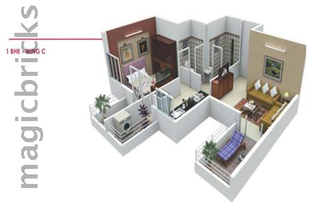 1 BHK Multistorey Apartment for Sale in Polite Panorama at Dighi-Image