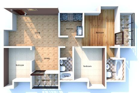 3 BHK Multistorey Apartment in Balaji Heights at Lokhra-Image